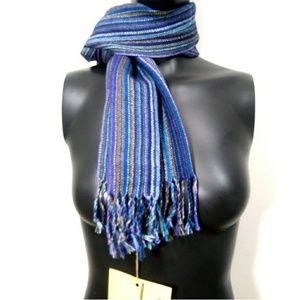 Bolivian Fair Trade NWT blue scarf 100% alphaca